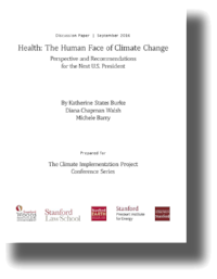 Health: The Human Face of Climate Change.   Burke, Walsh, and Barry. Discussion paper prepared for the  Climate Implementation Project Conference Series  (September 2016)