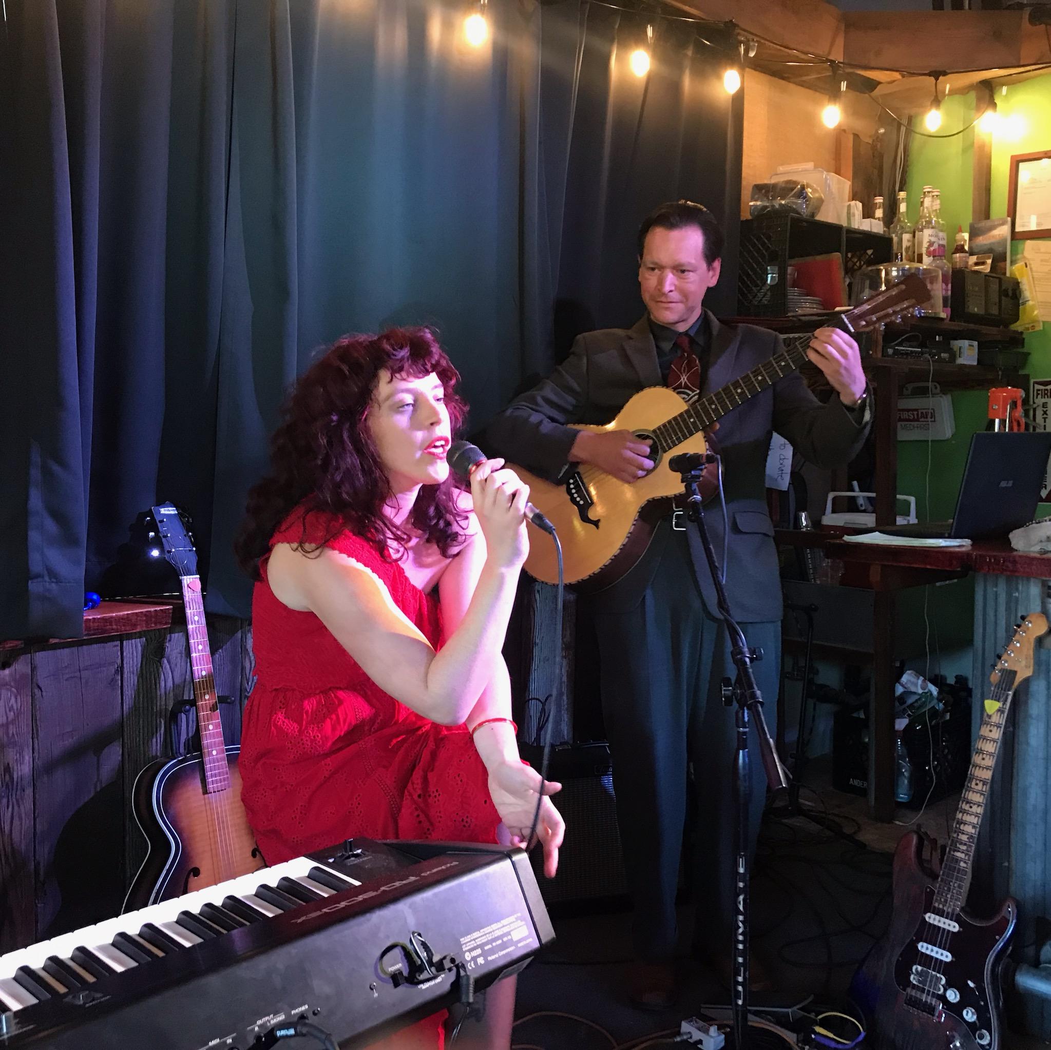 Melanie Beth Curran and Jake Sanders at The Disco Bay Detour, Washington State, May 2019