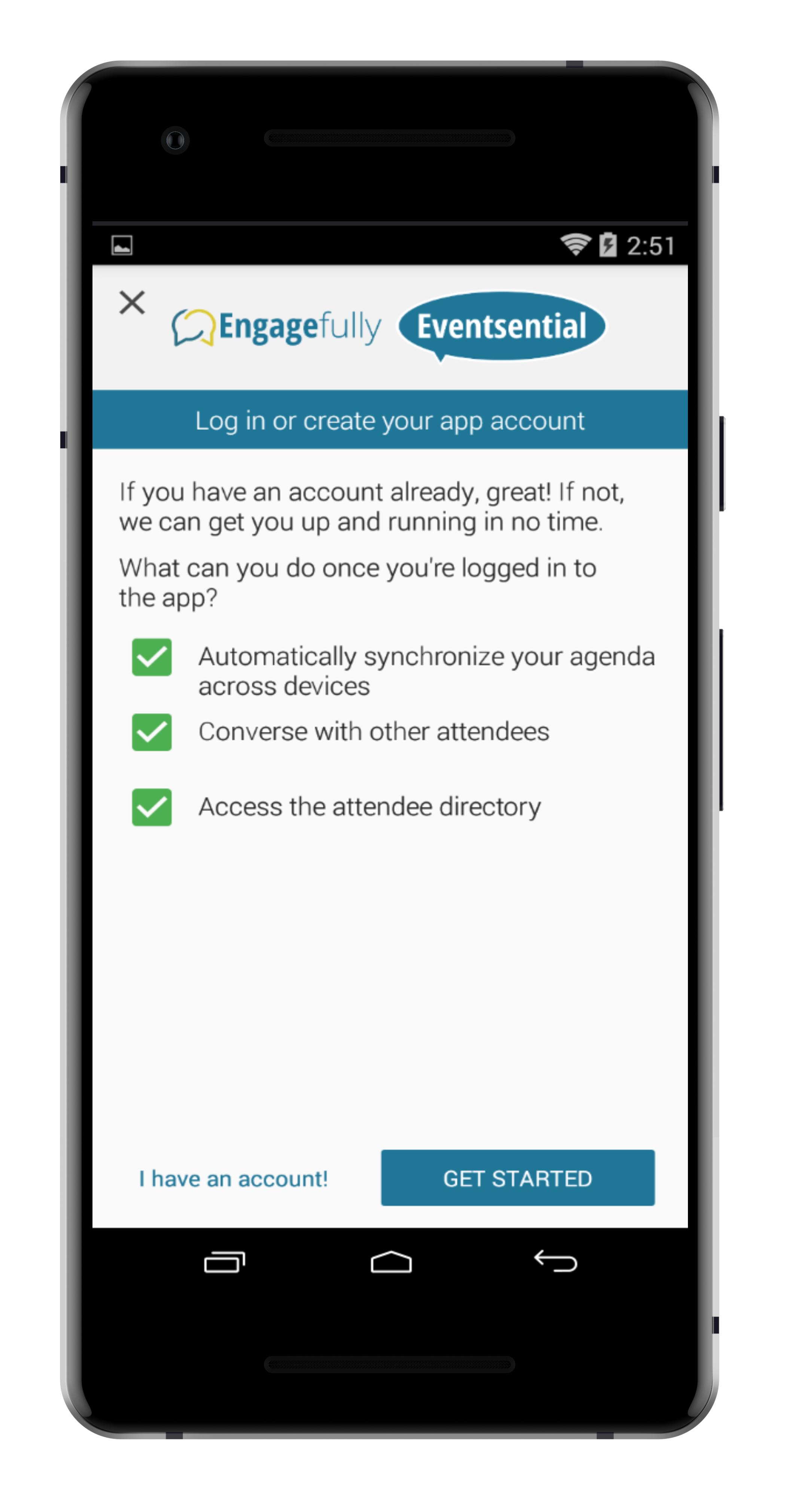 step 3. - SELECT THE BUTTON THAT SAYS GET STARTED TO BEGIN THE ACCOUNT CREATION PROCESS.