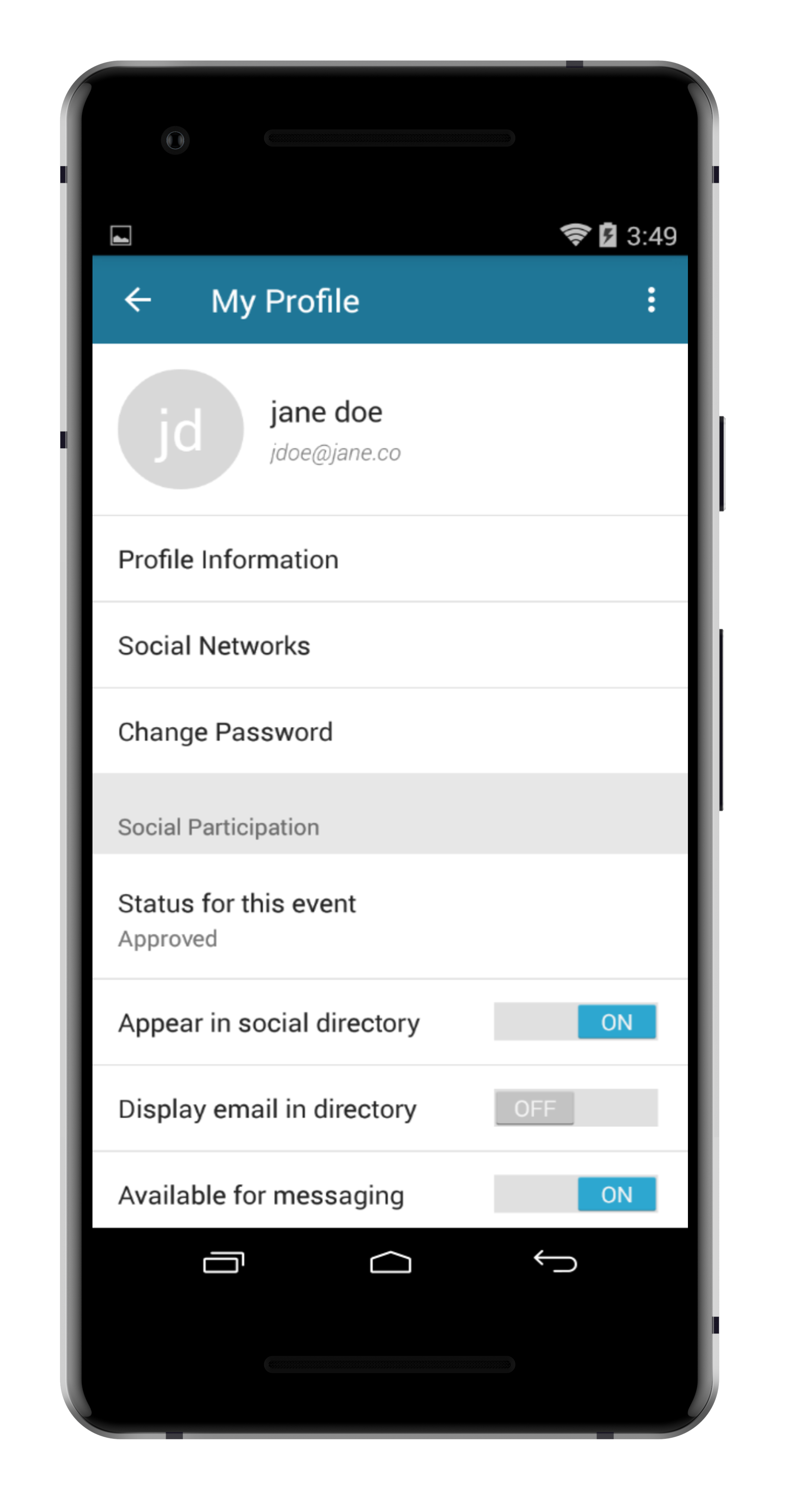 step 2. - FROM YOUR PROFILE, CLICK THE PROFILE INFORMATION TAB TO CHANGE YOUR PROFILE PICTURE (AS WELL AS YOUR BIO, CONTACT INFO, SOCIAL ENGAGEMENT AND MORE.)