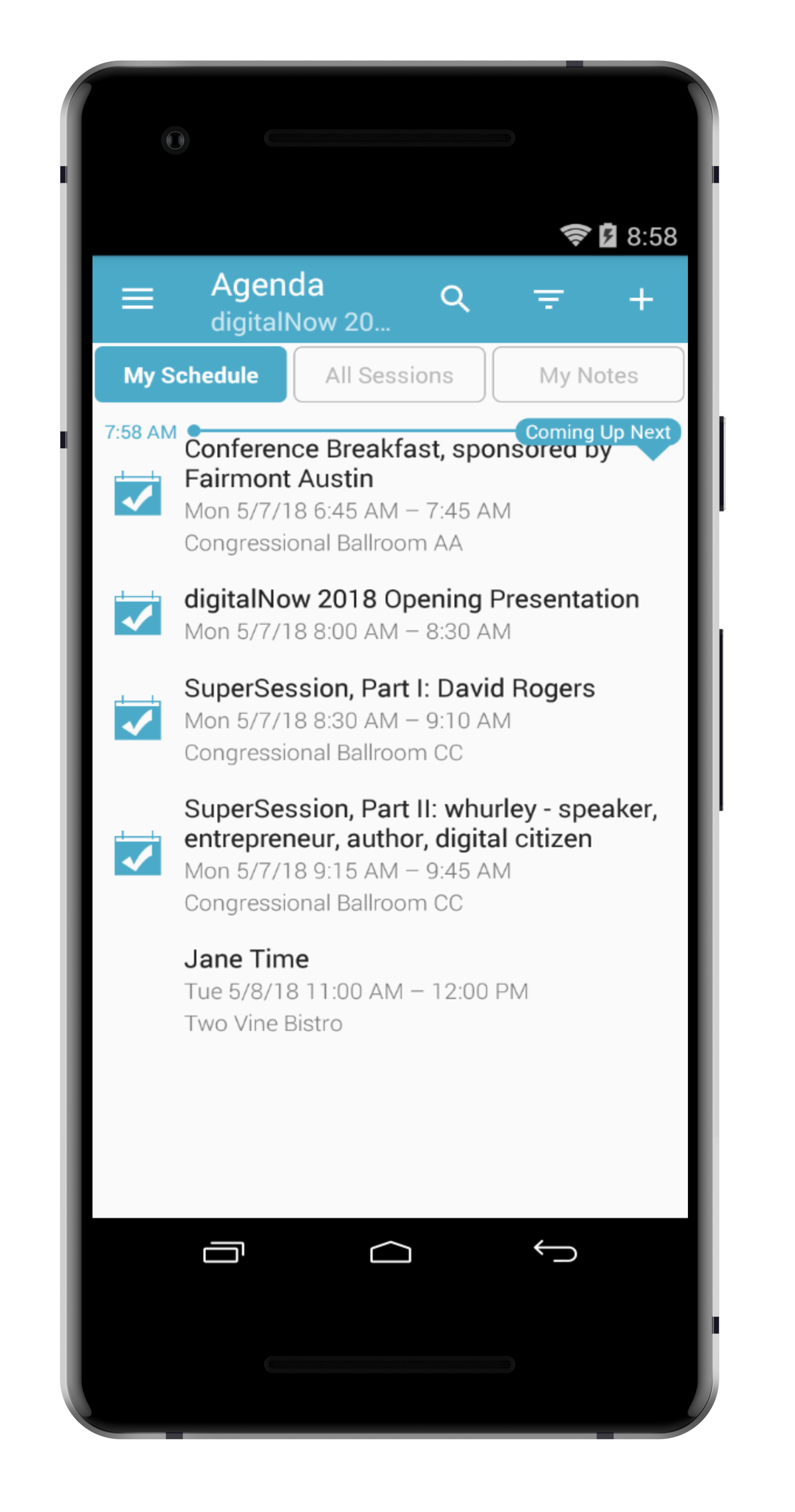 step 4. - FROM THE AGENDA CLICK THE 'MY SCHEDULE' TAB. YOU WILL SEE YOUR APPOINTMENT ON YOUR PERSONAL AGENDA NOW.