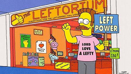 Ned Flanders and his left-handed store