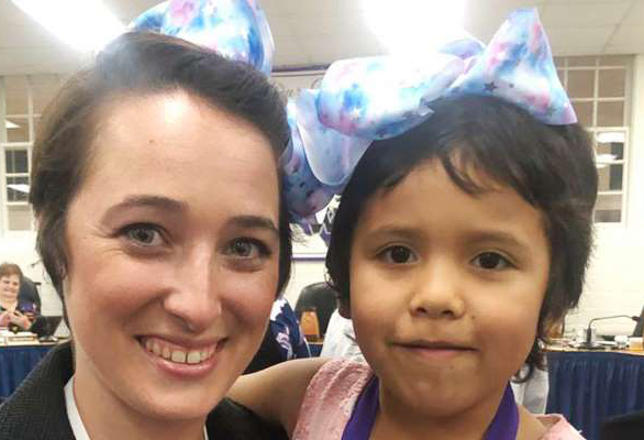Shannon Grimm of Willis ISD and her student Priscilla