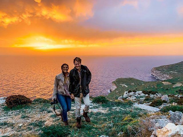 Sunset chasing in Malta 🌅 @lexandzachtravel #lexandzach . . . #beautifuldedtinations #travelanddestination #lifestyleblogger #happylife #sunsets_captures #lovelifeoutside #motivationmonday #dreamtrips #coupleswhotravel #beattheelements #earthmoving #lessismoreoutdoors #roamearth #outdoortones #majesticearth #folkscenery #sunset_ig #sunsetsaroundtheworld #wanderlustinlove #amazingplaces #adventuresession #middleofnowhere #lonelyplanet #hikelife #malta #dinglicliffs