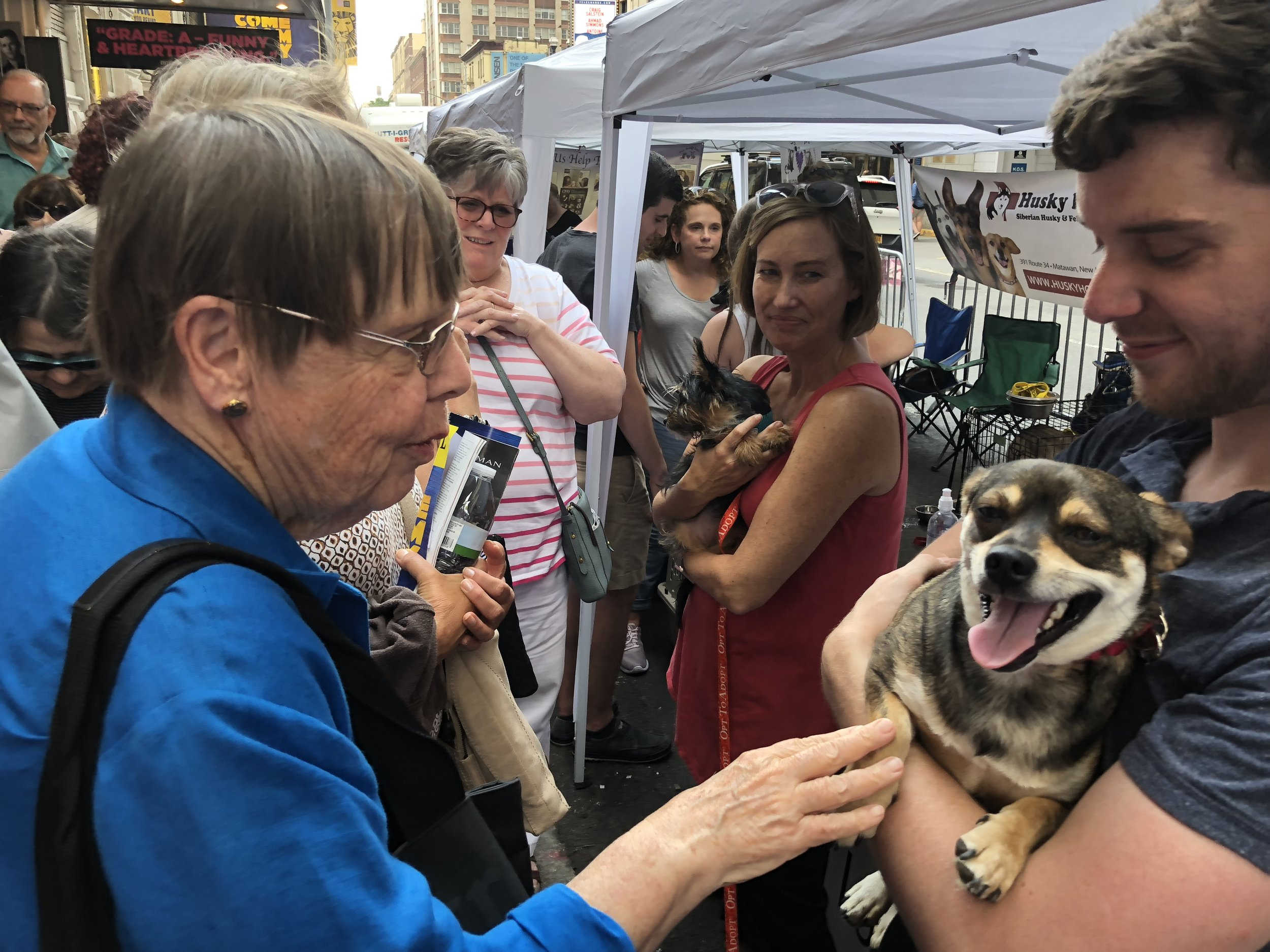 Thank you Liam, Jen, and Karen for spending the day with our dogs at our adoption booth at Broadway Barks.