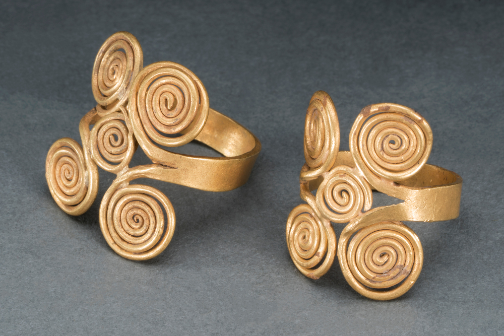 Gold rings - Gold wireHarappan period, 2000–1700 BCPur village, Bhiwani Khera, Haryana, IndiaHaryana State Archaeology and Museums