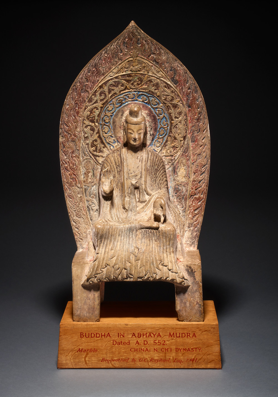 Buddha - MarbleAD 552ChinaBritish Museum