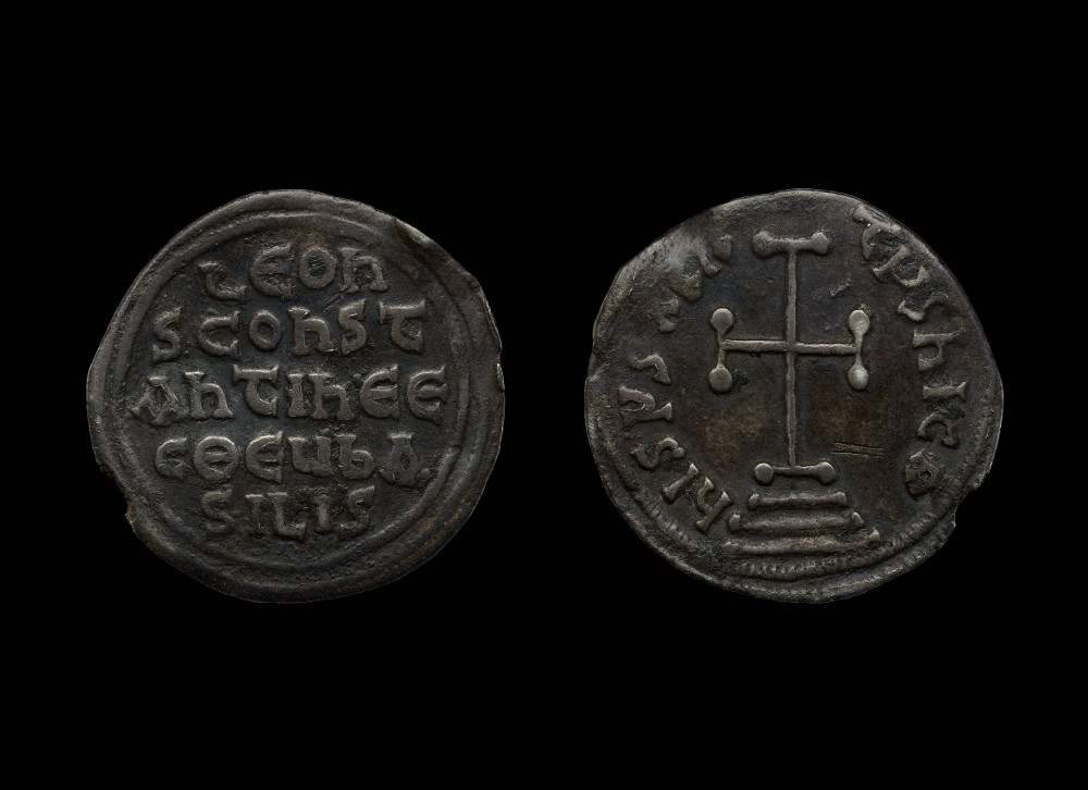 Miliaresion of Emperor Leo III - Silver AD 717–741Minted in Constantinople (now Istanbul), TurkeyBritish Museum