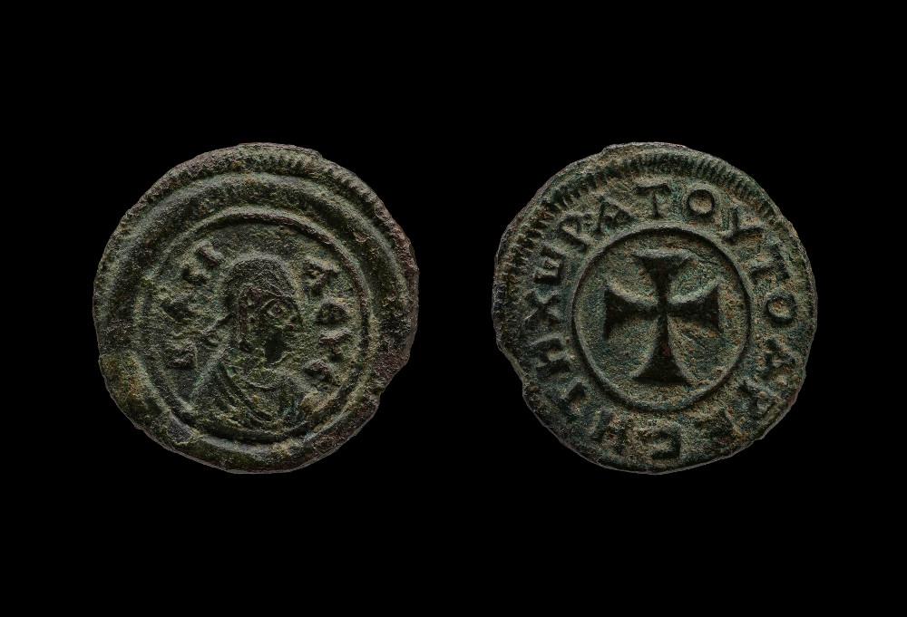 Aksumite coin of Za-ya'abiyo la madhen negus - CopperAD 340–540EthiopiaBritish Museum