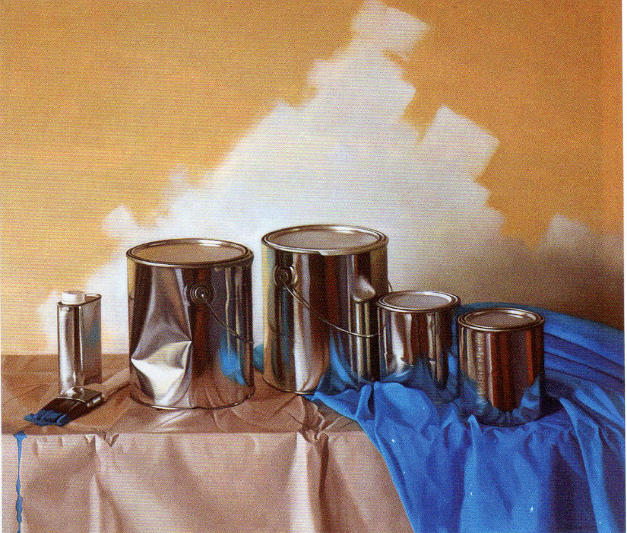 """Painter's Progress, oil on linen, 28"""" x 32"""" 