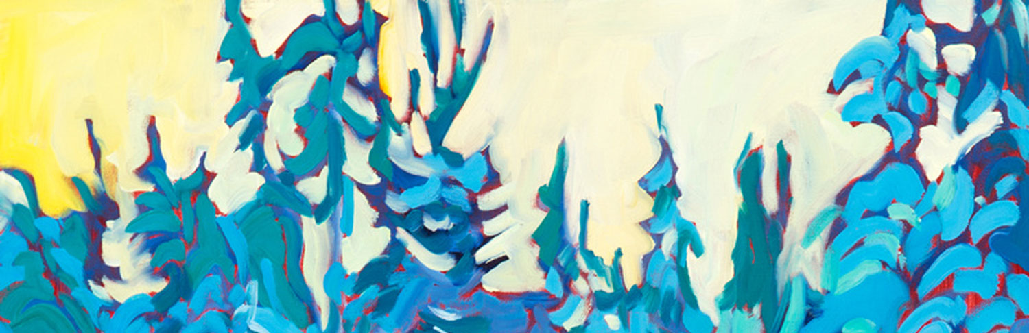 Detail of Painting by Kaija Savinainen Mountain