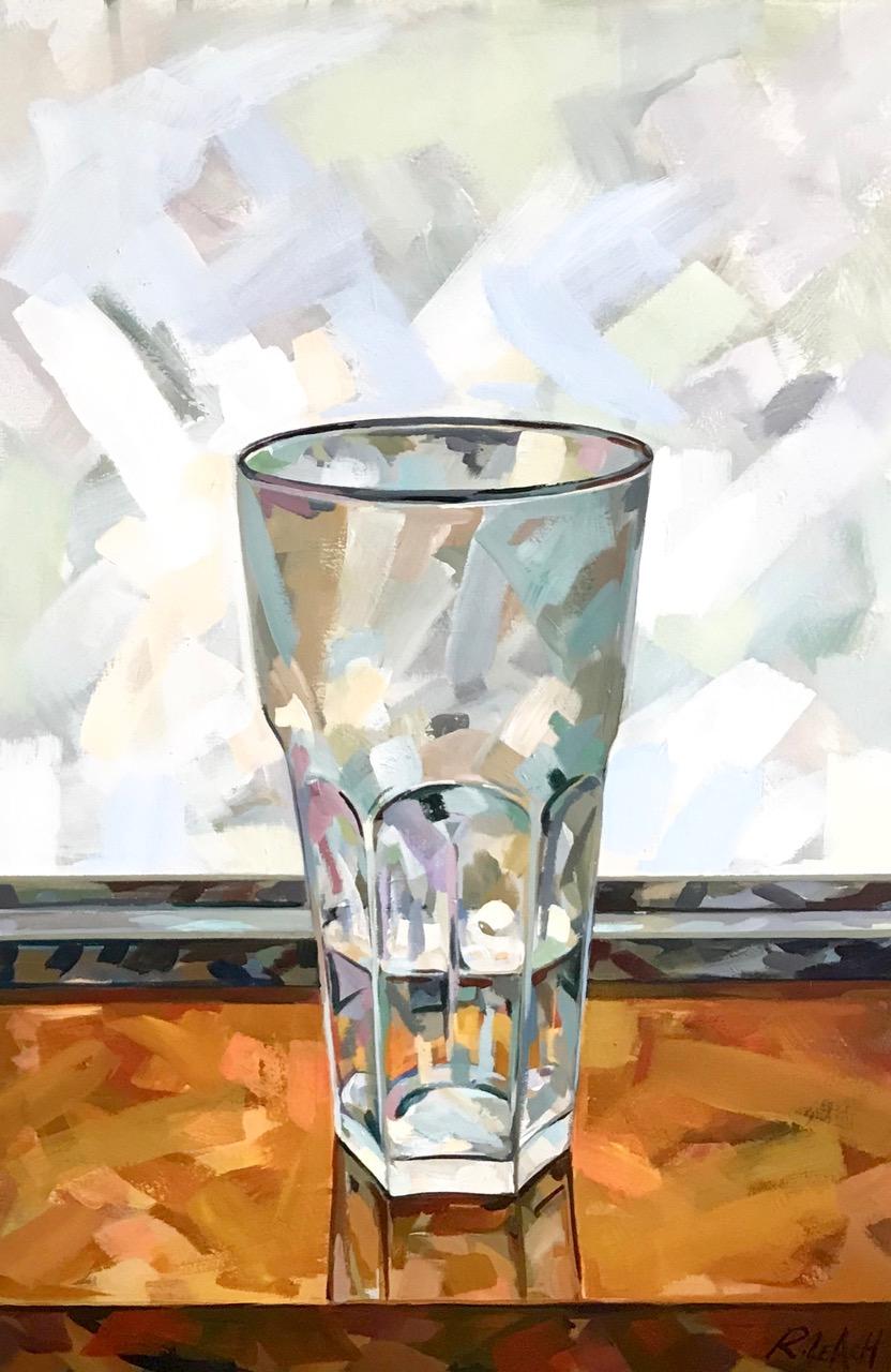 "Glass of Water | 24"" x 36"" | Acrylic on Panel"
