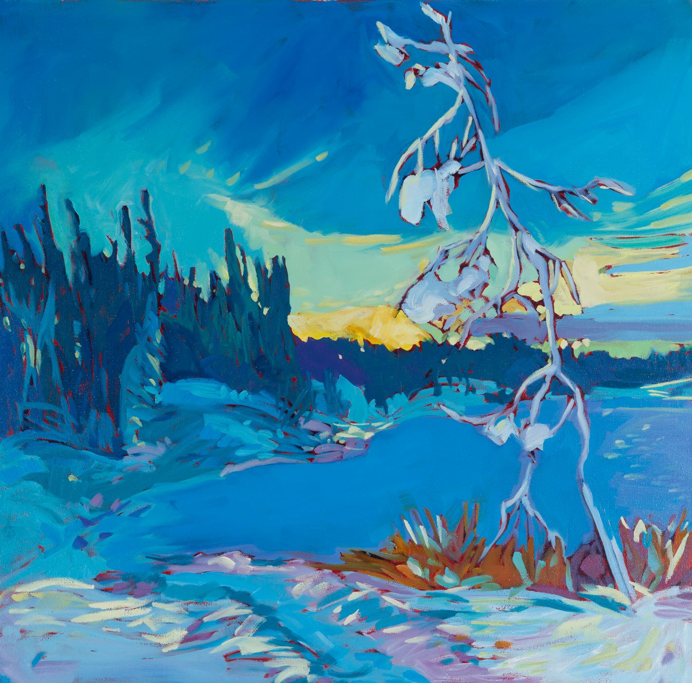 "Frozen Lake | 20"" x 20"" | Acrylic | SOLD"