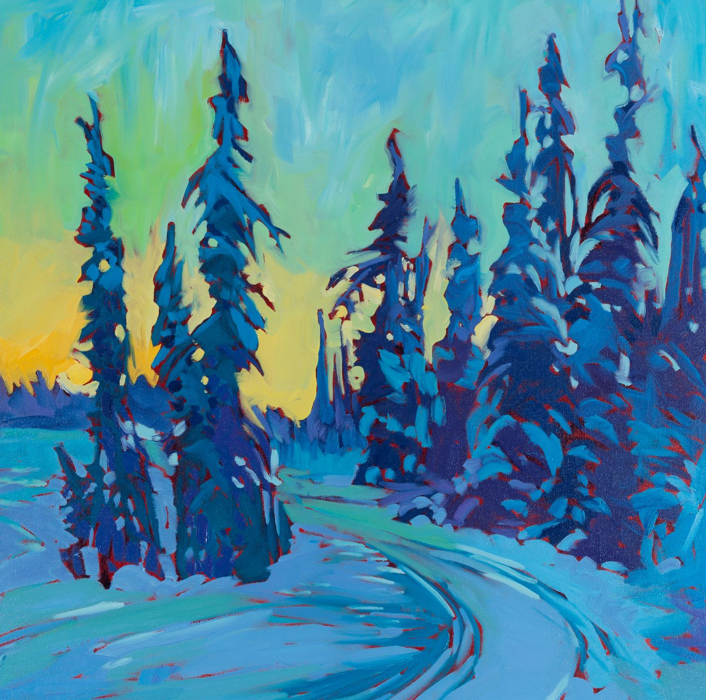 "Ski Trail | 20"" x 20"" | Acrylic \ SOLD"