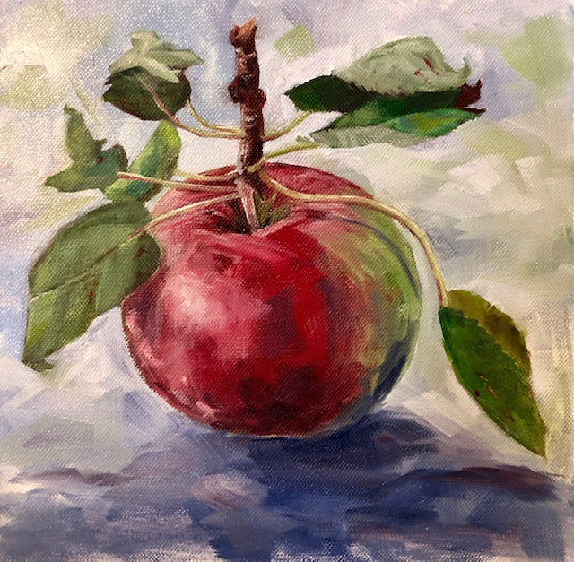 "A Healthy Apple | Eileen Hennemann | 10"" x 10"" 