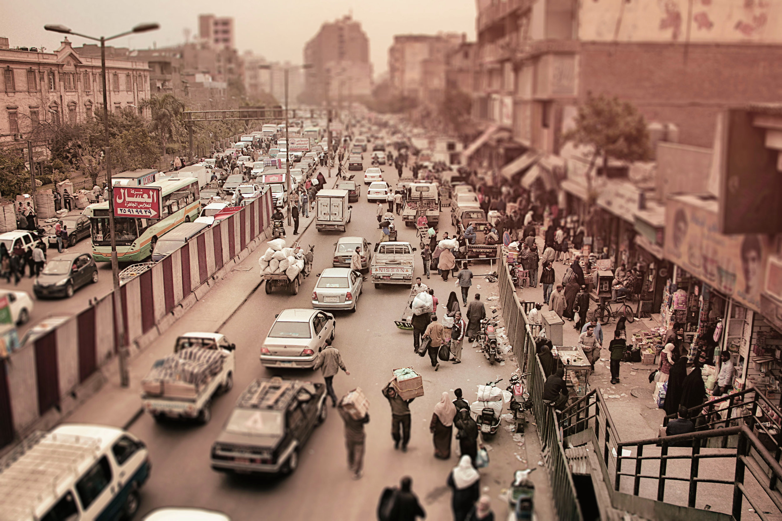 the traffic in cairo is insane! -