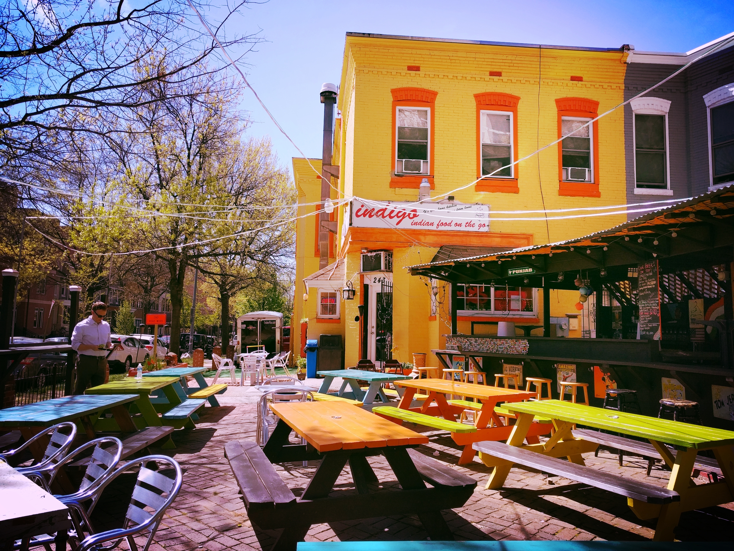 Indigo – Family-run Indian food with a quirky and colorful outside bar and seating. -