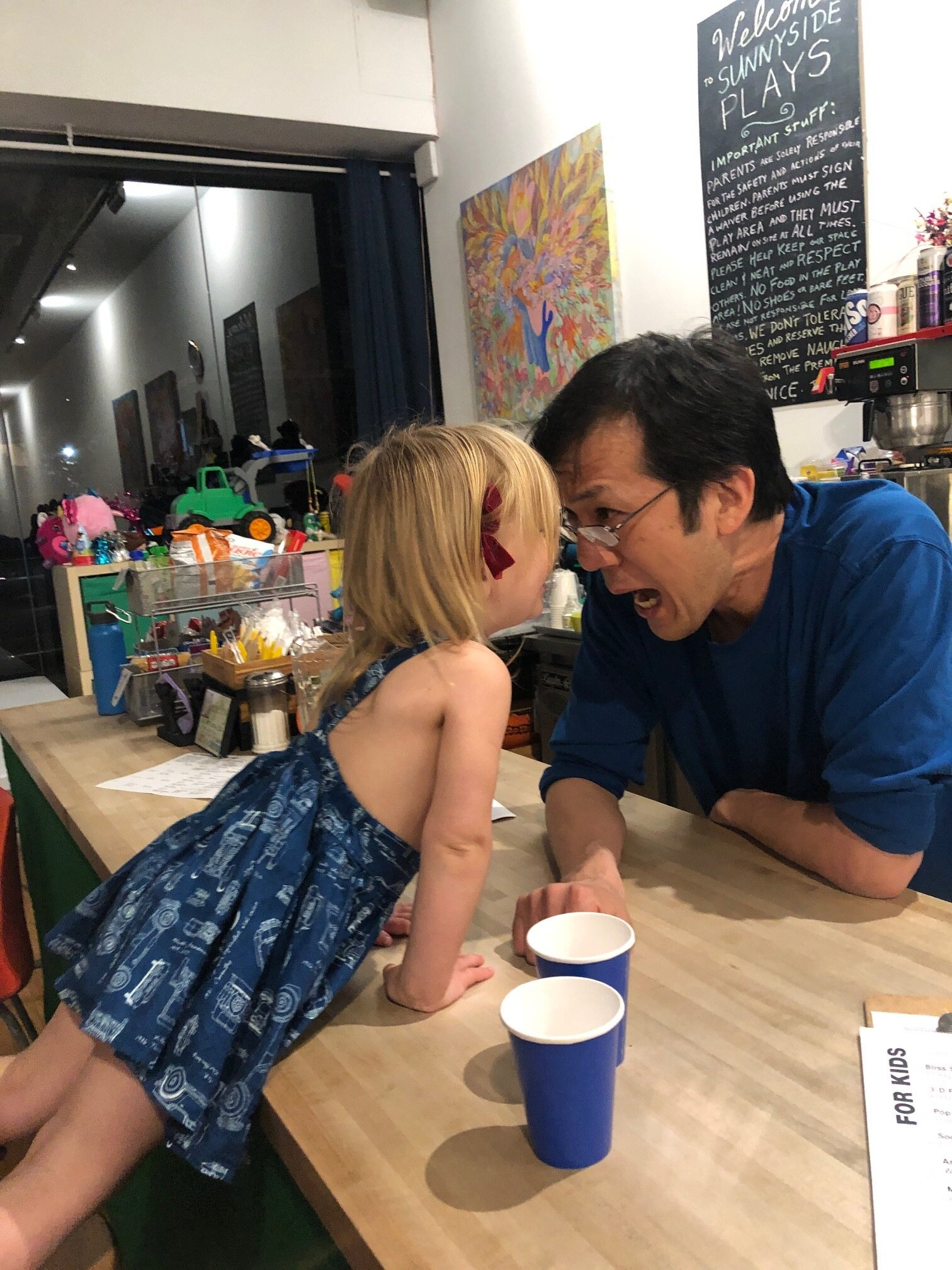 Did we mention Sunnyside Plays has a weekly parent happy hour?! HERE FOR IT. Just like Gigi