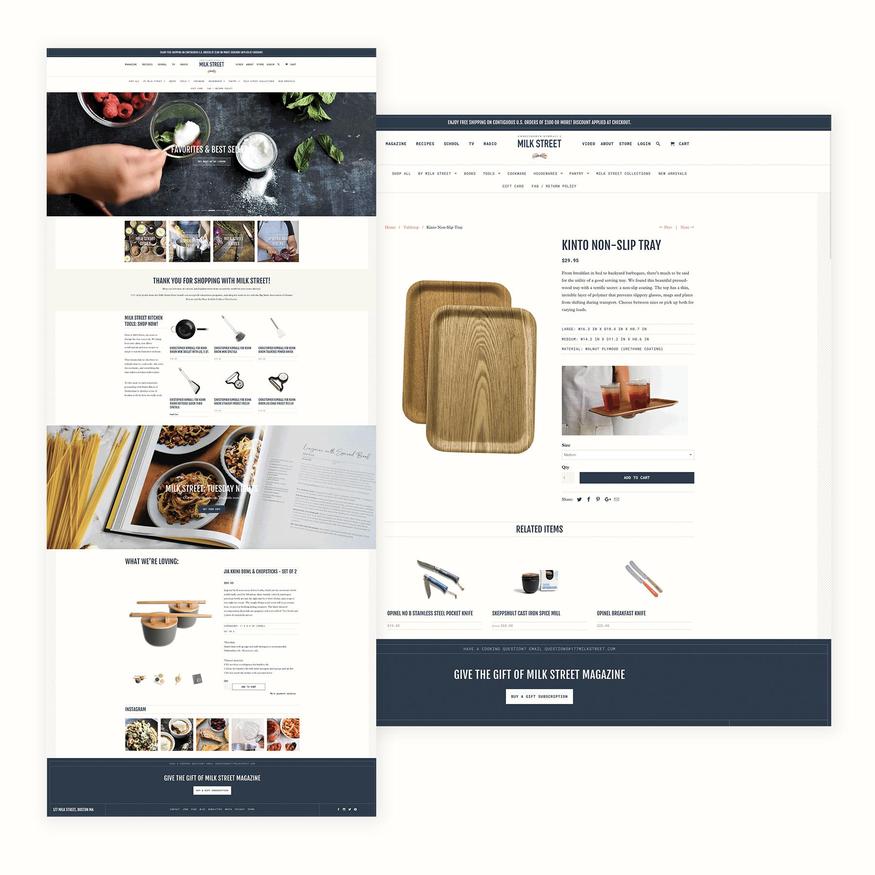 Milk Street Store: E-Commerce Design + Project Management