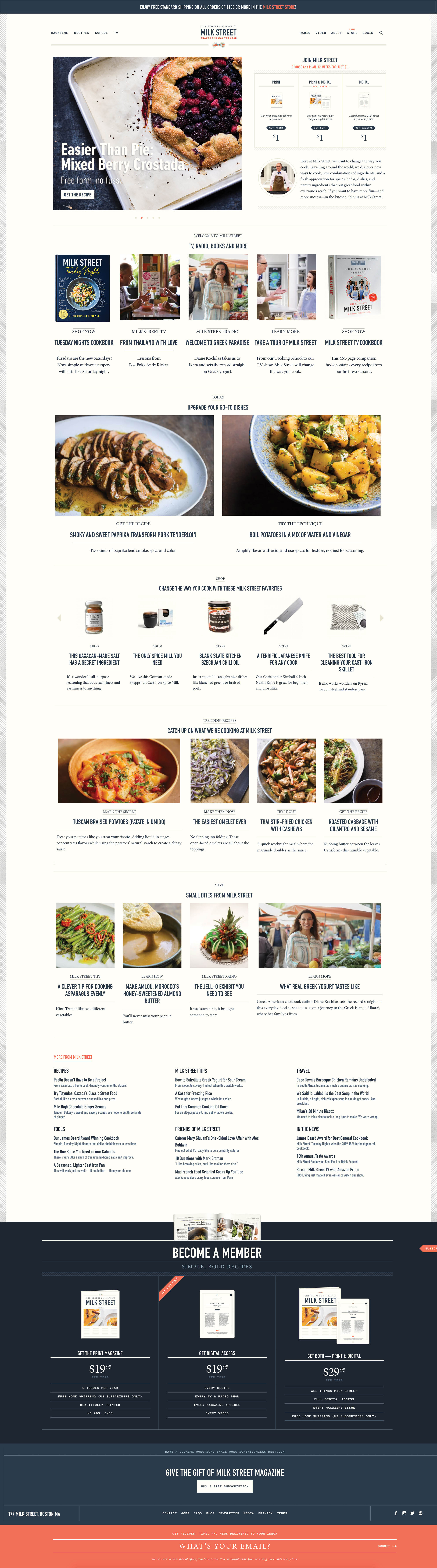 Christopher Kimball's Milk Street: Website Design