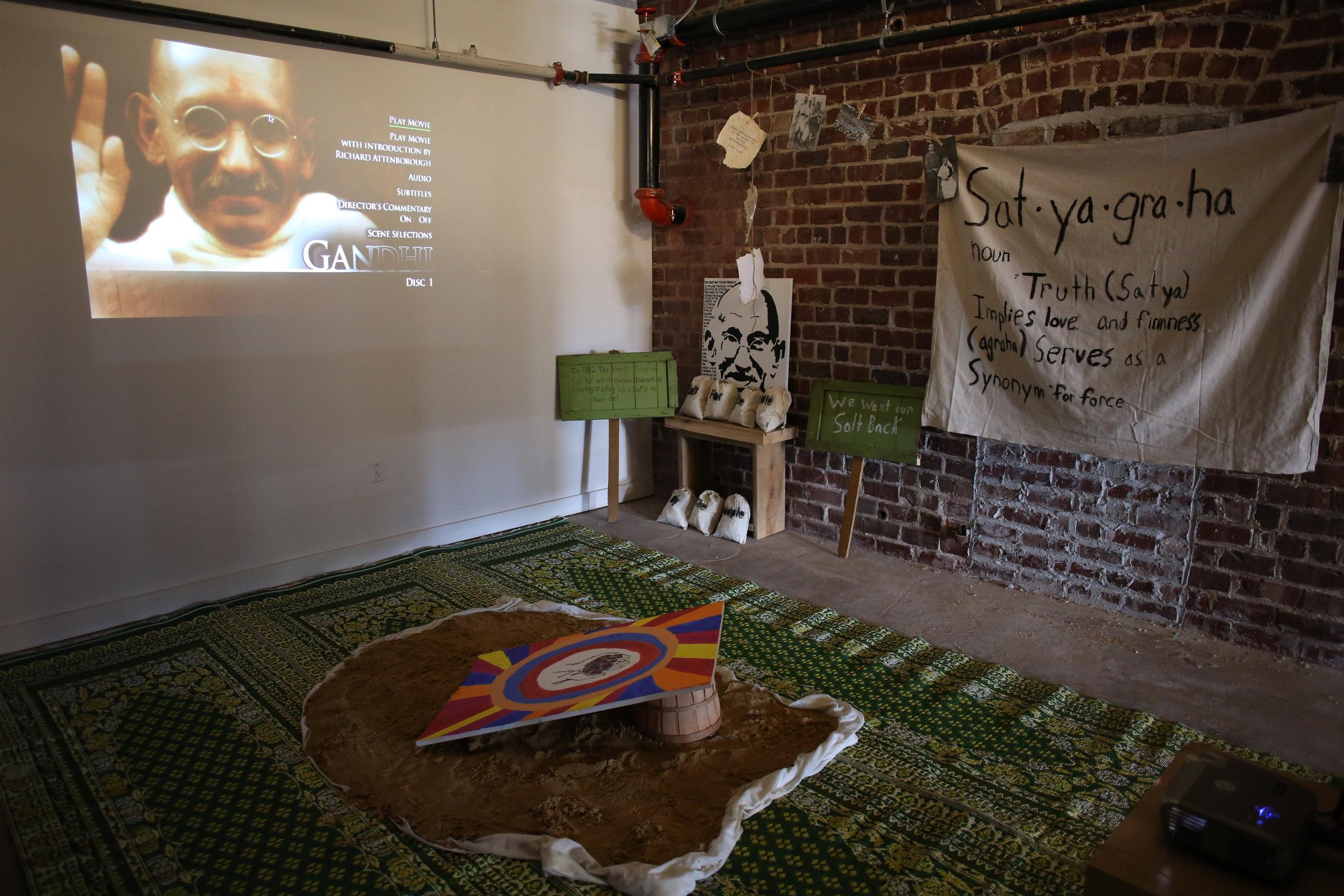 Gandhi exhibit at Celebrations of Learning 2018.