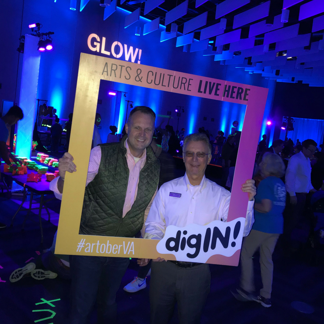 CultureWorks president Scott Garka had a great time at the Science Museum of Virginia for Glow.