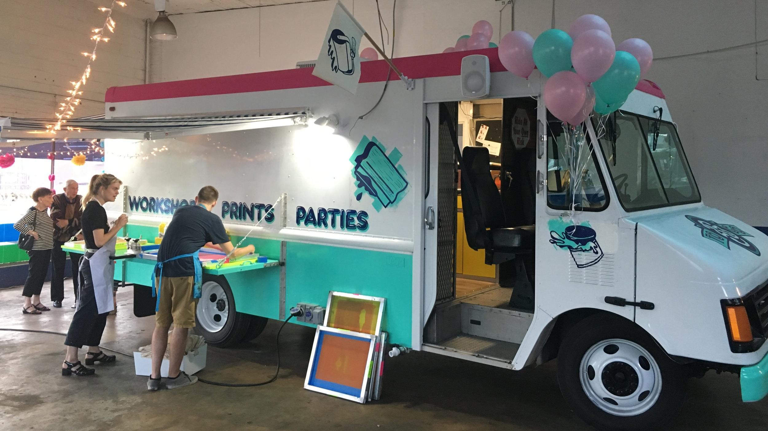 Grant Recipient Studio Two Three's Mobile Print Truck