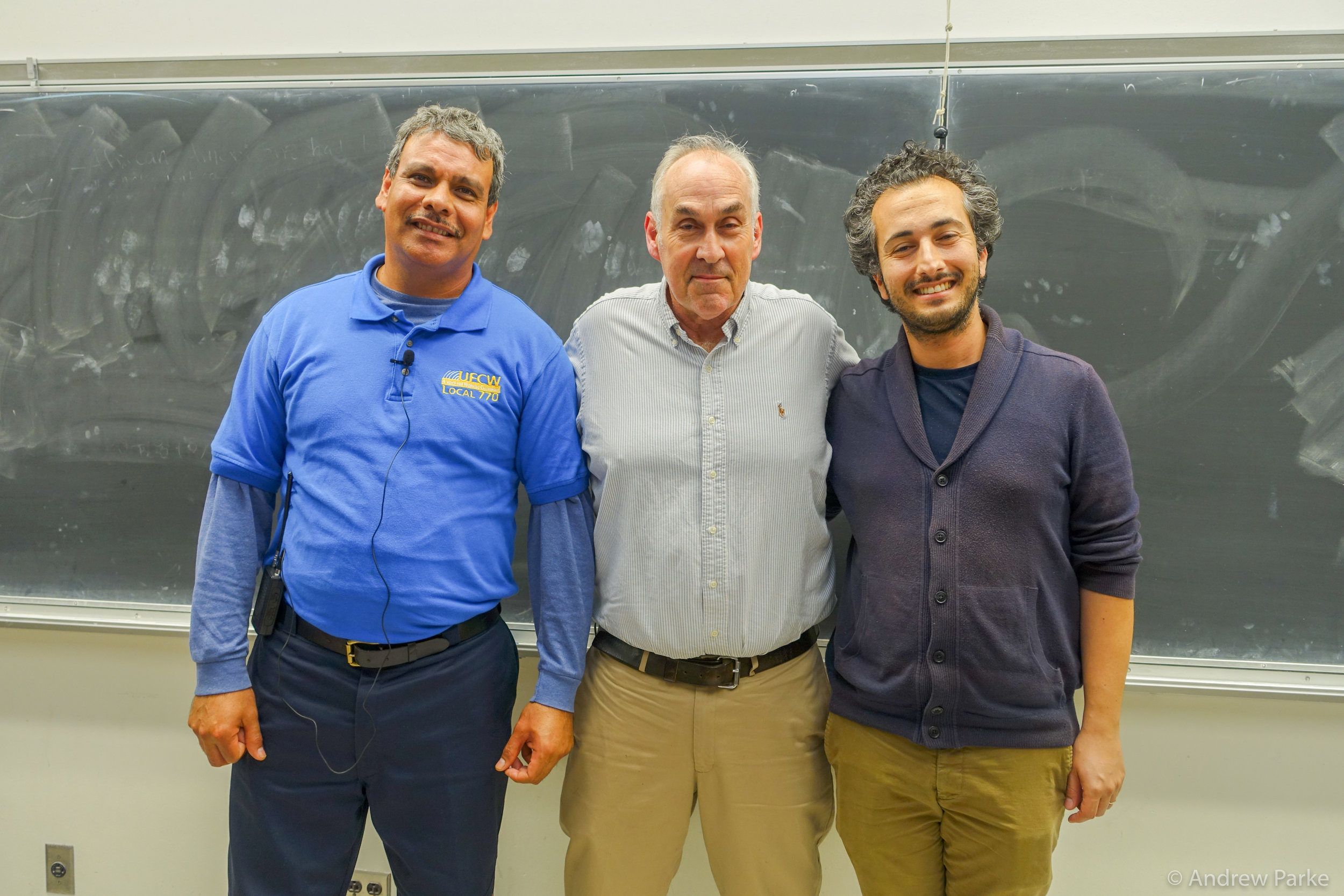 Pedro Alberon, Organizer, UFCW; Matthew Barr; Shukry Cattan, UCLA Labor Center