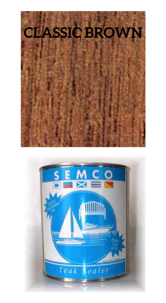 SEMCO Teak Sealer Classic Brown    *Gallon:  $76.50  *Quart:  $29.99  *Pint:  $20.99   Click Here to Purchase!