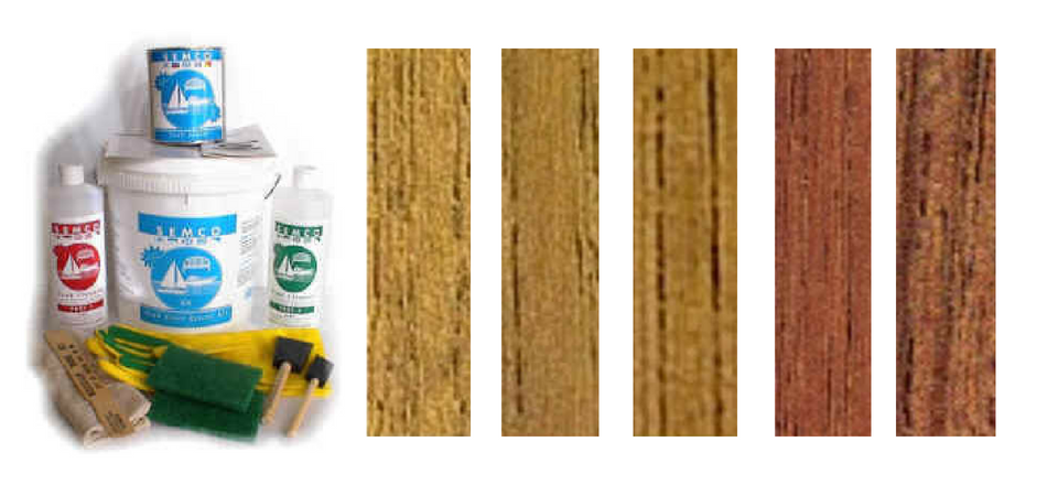 SEMCO Teak Restoration Kit    Available in all tones:  Natural, Honeytone, Goldtone, Class Brown, and Cleartone   *Quart:  $69.69    Click Here to Purchase!