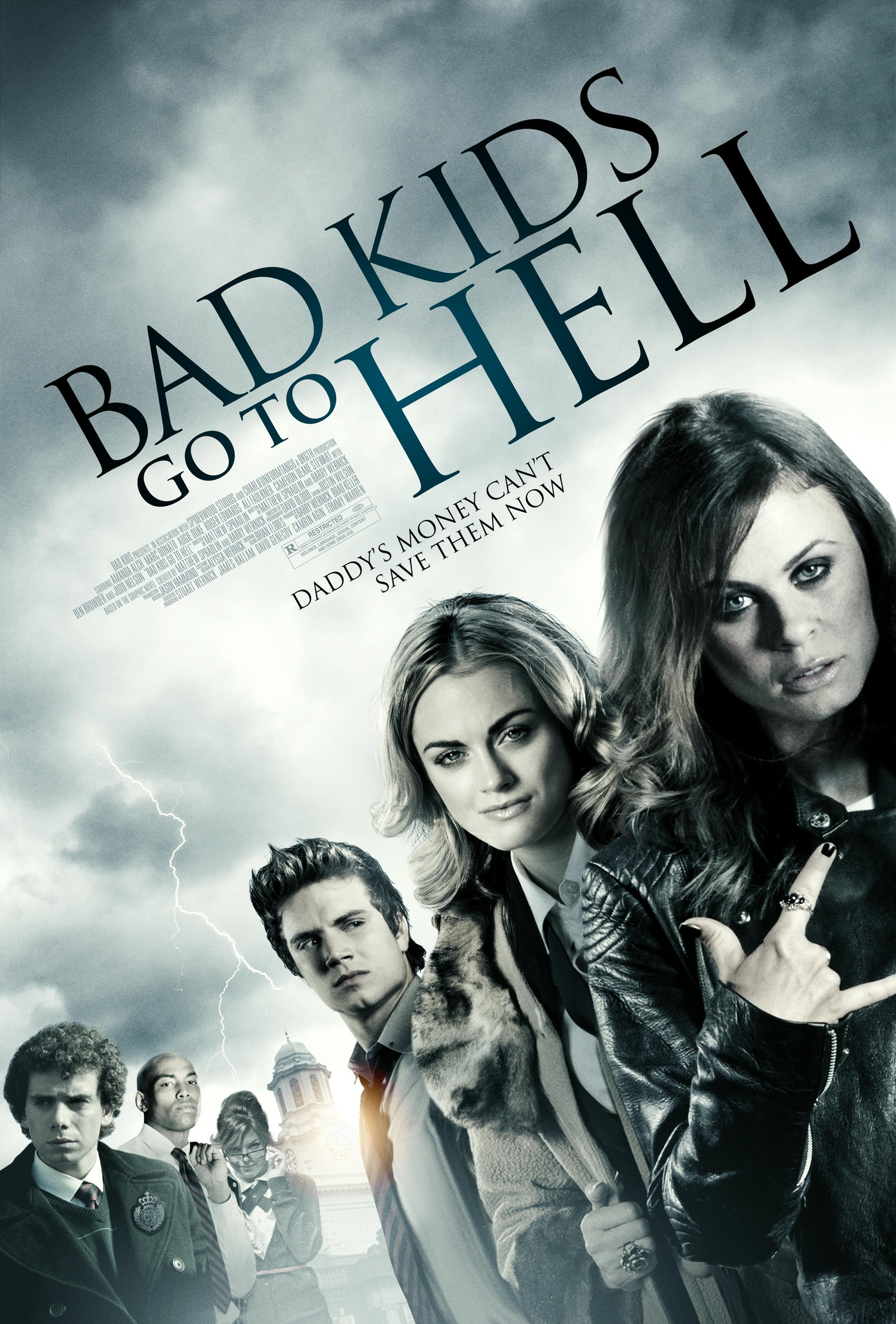 Marc Donato, Amanda Alch, Roger Edwards, Augie Duke, Ali Faulkner, and Cameron Deane Stewart in Bad Kids Go to Hell (2012)