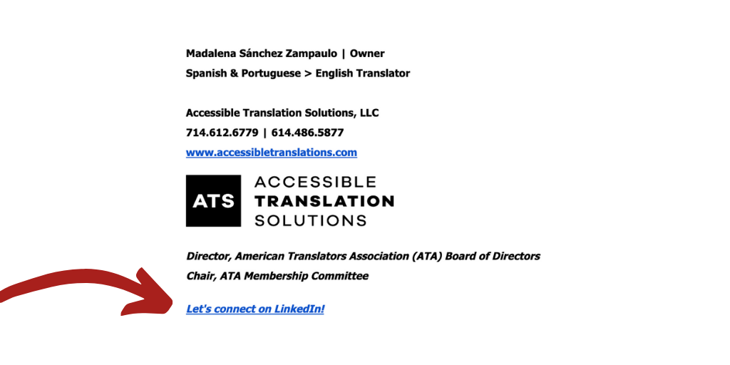 Tips for Transaltors_LinkedIn in your Email Signature.png