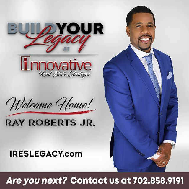 We want to welcome Ray Roberts Jr. to #TeamIRES. We are so excited for him to join the team and kick some butt in the Las Vegas market!