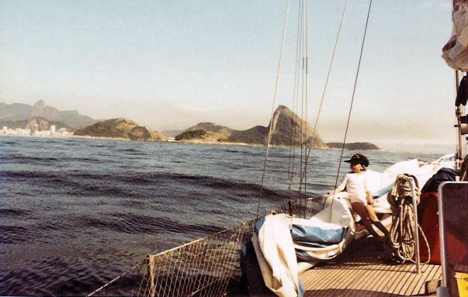 The morning of our arrival in Rio de Janeiro, after 30 days at sea.