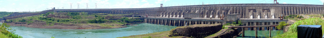 Itaipu Dam today, photo by Martain St-Amant, distributed by Creative Commons