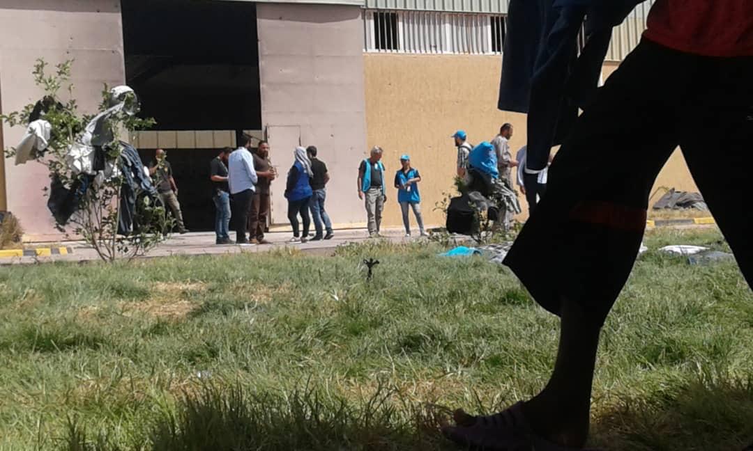 - Utsidan av Abu Salim-förvaret där flyktingar och migranter övergavs under stridigheterna i Tripoli förra året.