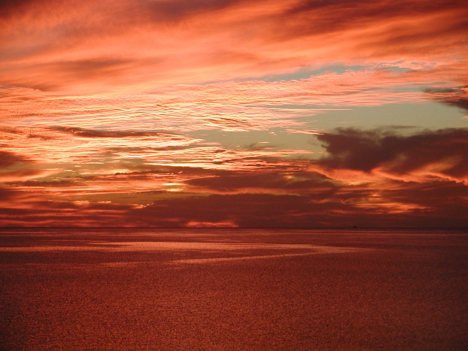Flame evening sky