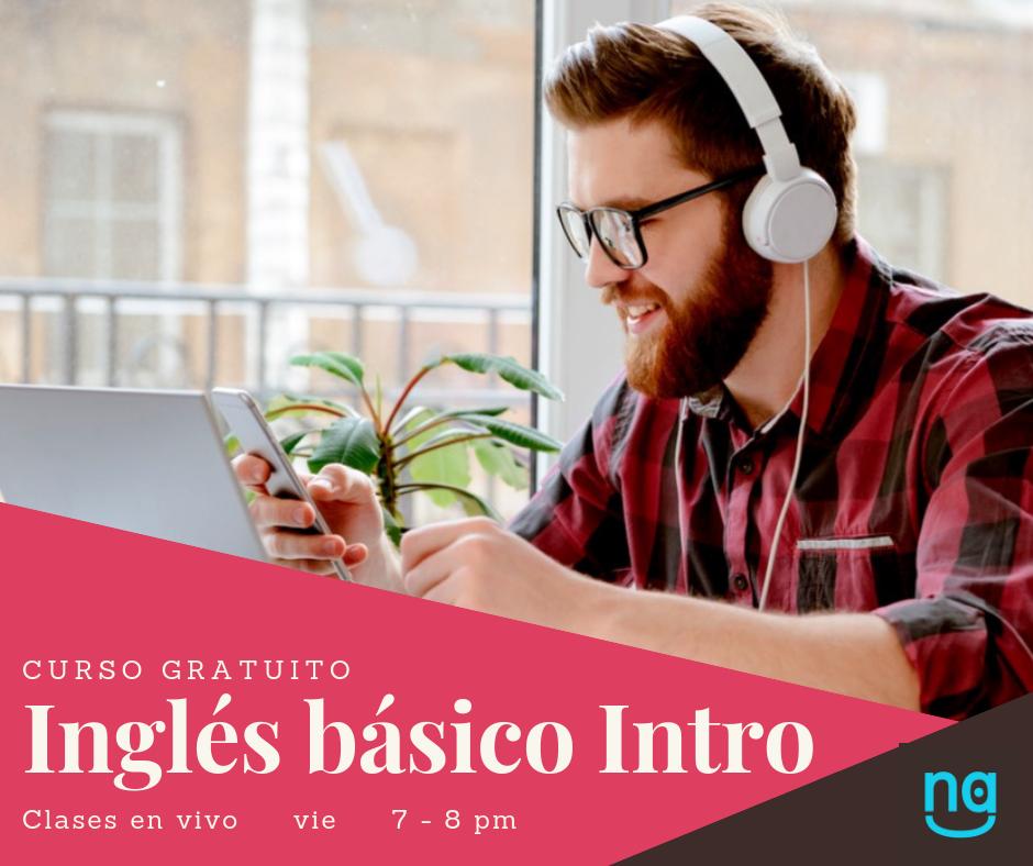 Inglés Básico Intro - El curso está dirigido a estudiantes de secundaria. Es 100 por ciento práctico. El propósito es ayudarlos a resolver situaciones cotidianas de comunicación.