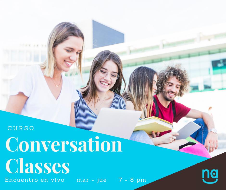 Conversation Classes - Es un espacio para dialogar y conocer personas de diferentes países. Participan los que aprendieron un idioma, pero que no tienen oportunidad de practicarlo de manera frecuente. El propósito es promover el intercambio cultural en un ambiente relajado y ameno.