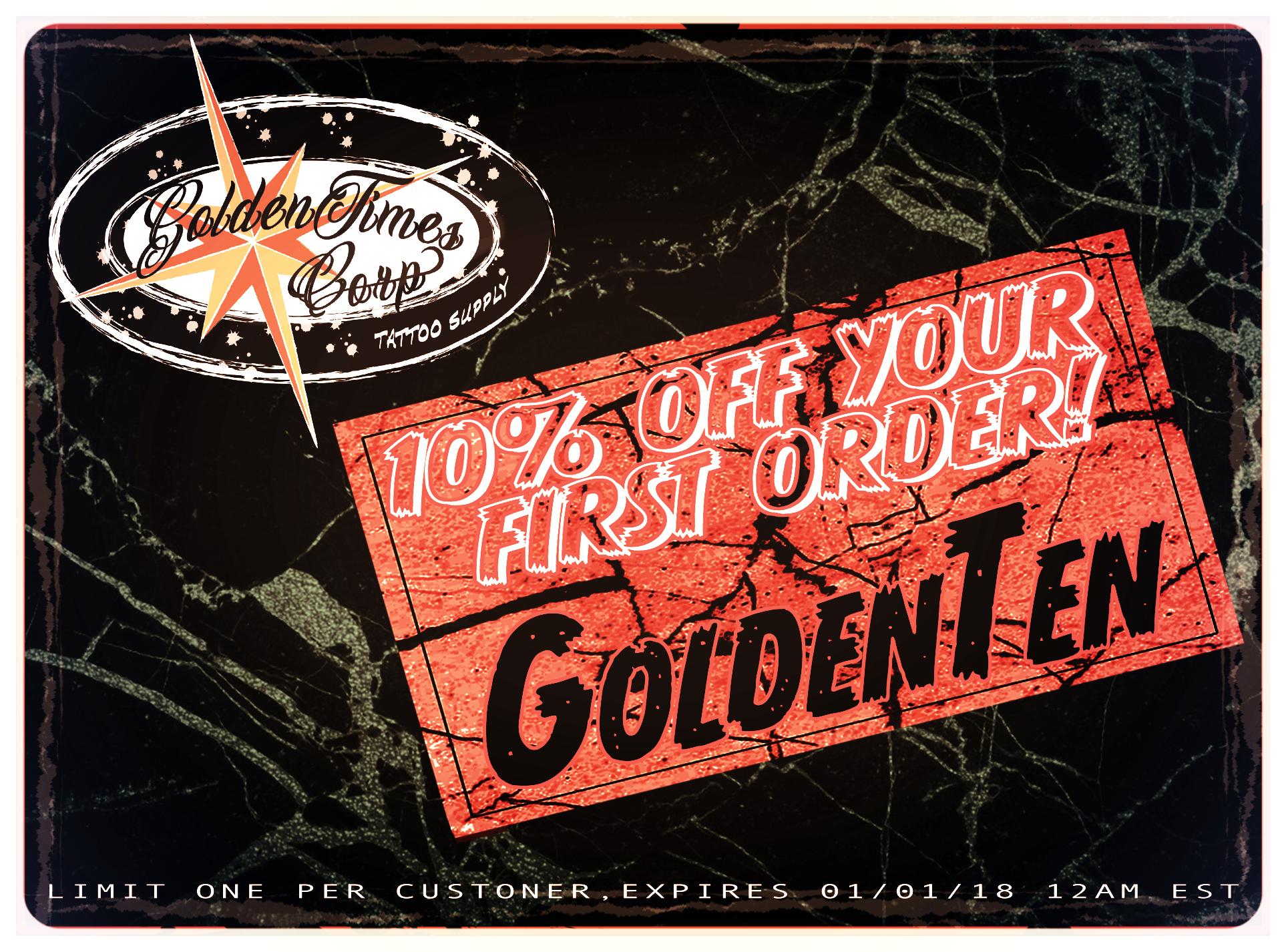 PROMO-CODE: GoldenTen FOR 10% OFF YOUR 1st ORDER! -