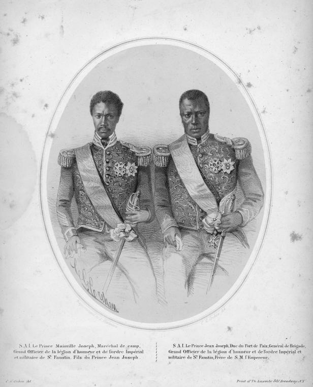 Members of the Imperial House of Soulouque, from the  Album Imperiale d'Hayti  (mid 19th century).