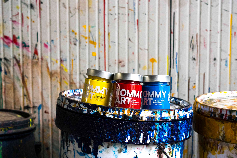 tommy art jars of paint