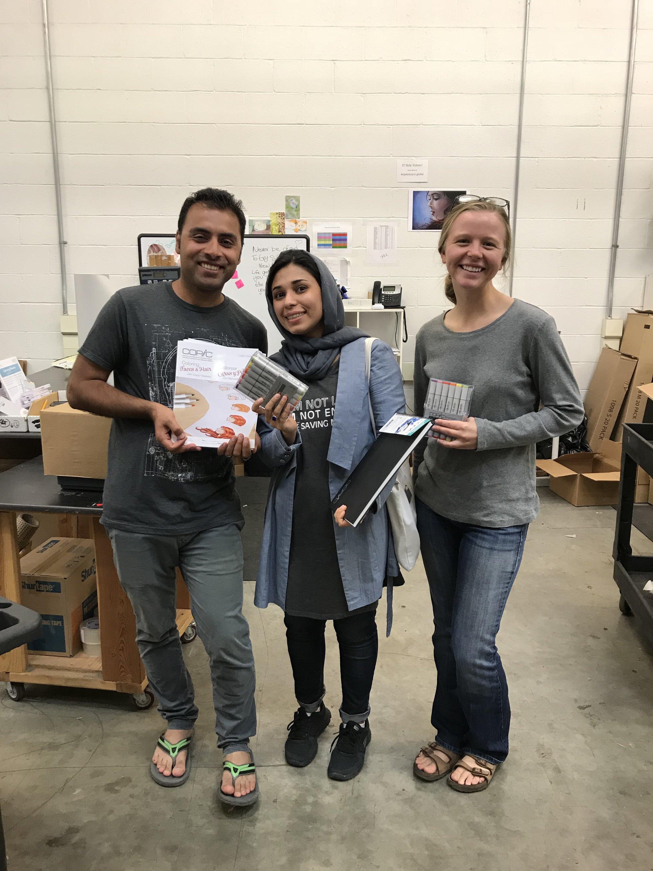 """Shamsia & Shah """"shopping"""" at iii warehouse"""