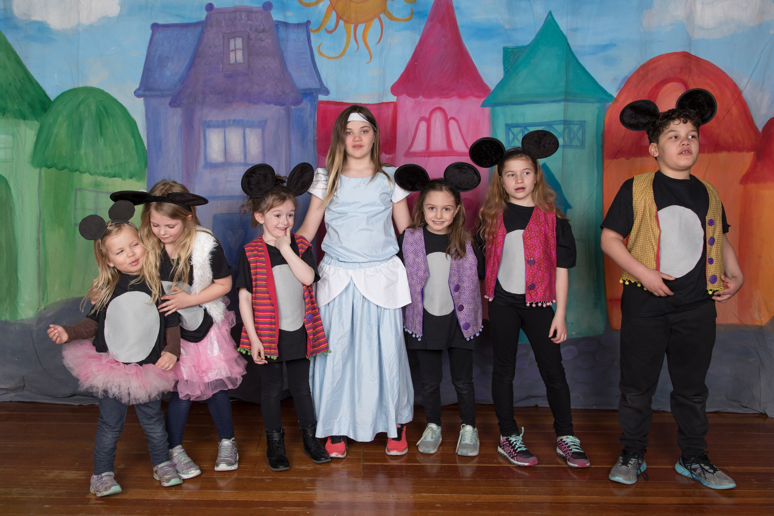 Cinderella and her Mice at Pawling Elementary.