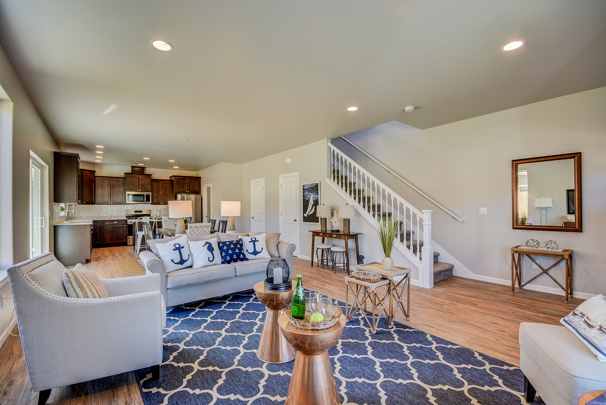 Gorgeous & durable vinyl flooring on the main level....