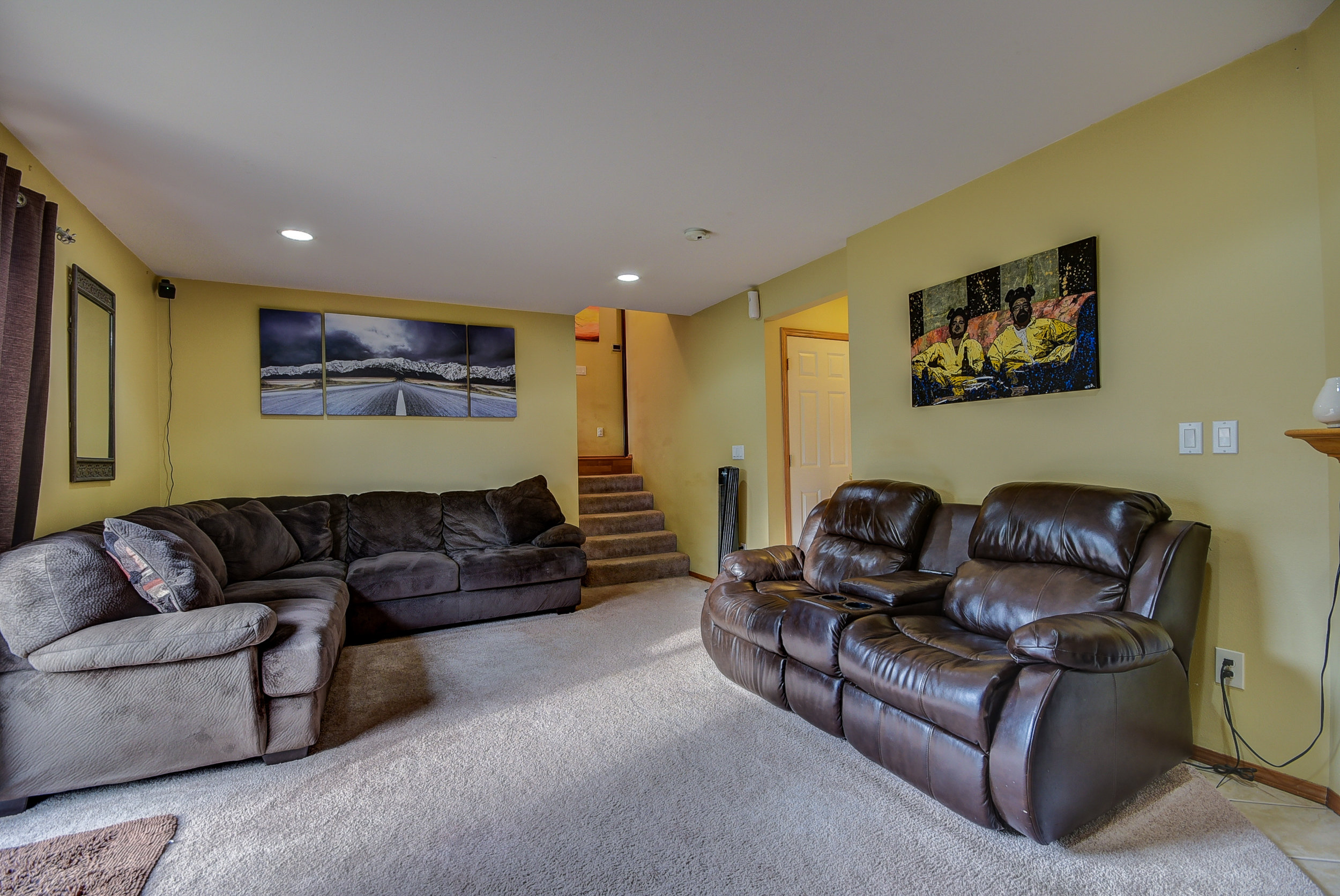 Come downstairs & check out the size of the 2nd family room! Wow!