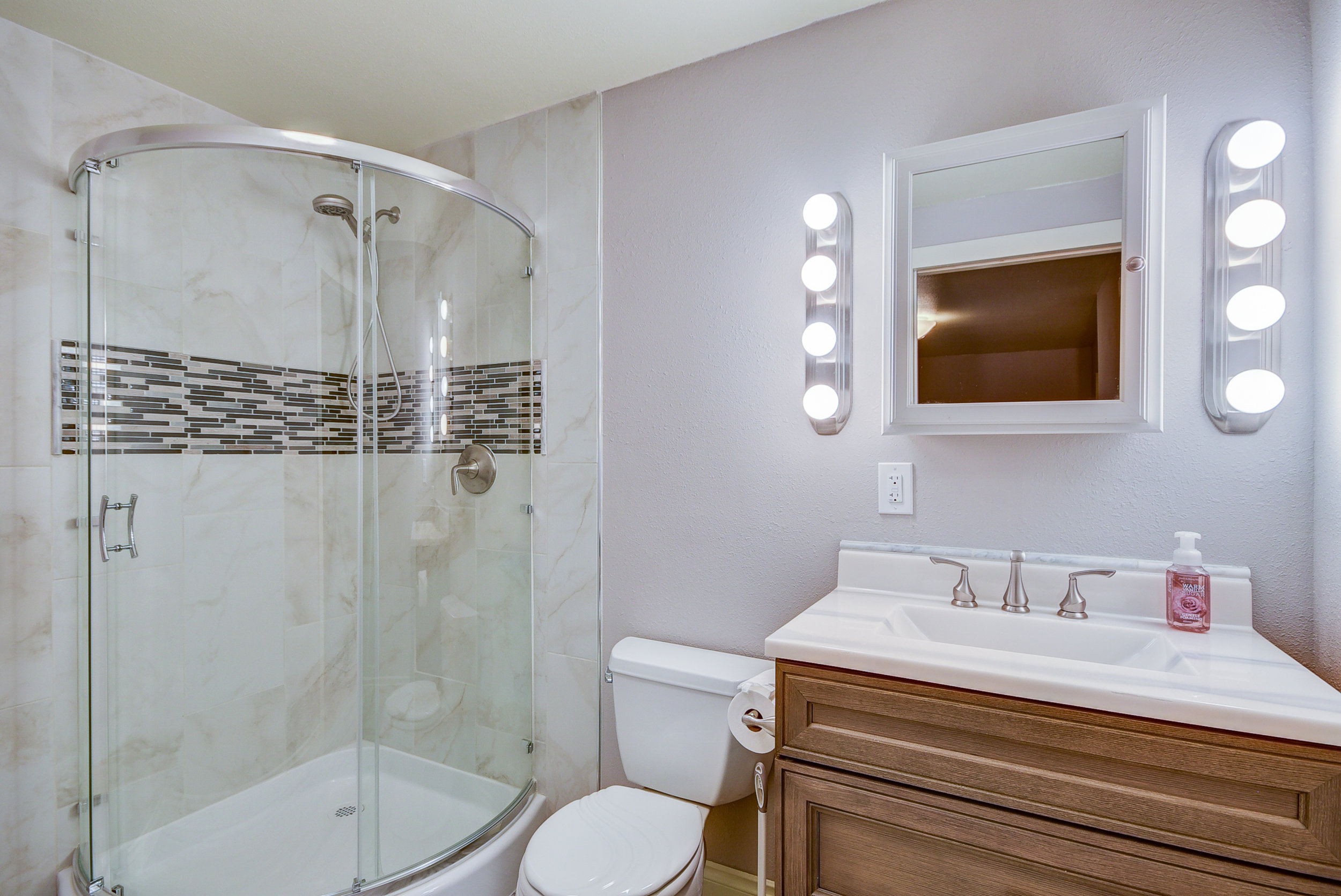Fabulously renovated master bath...