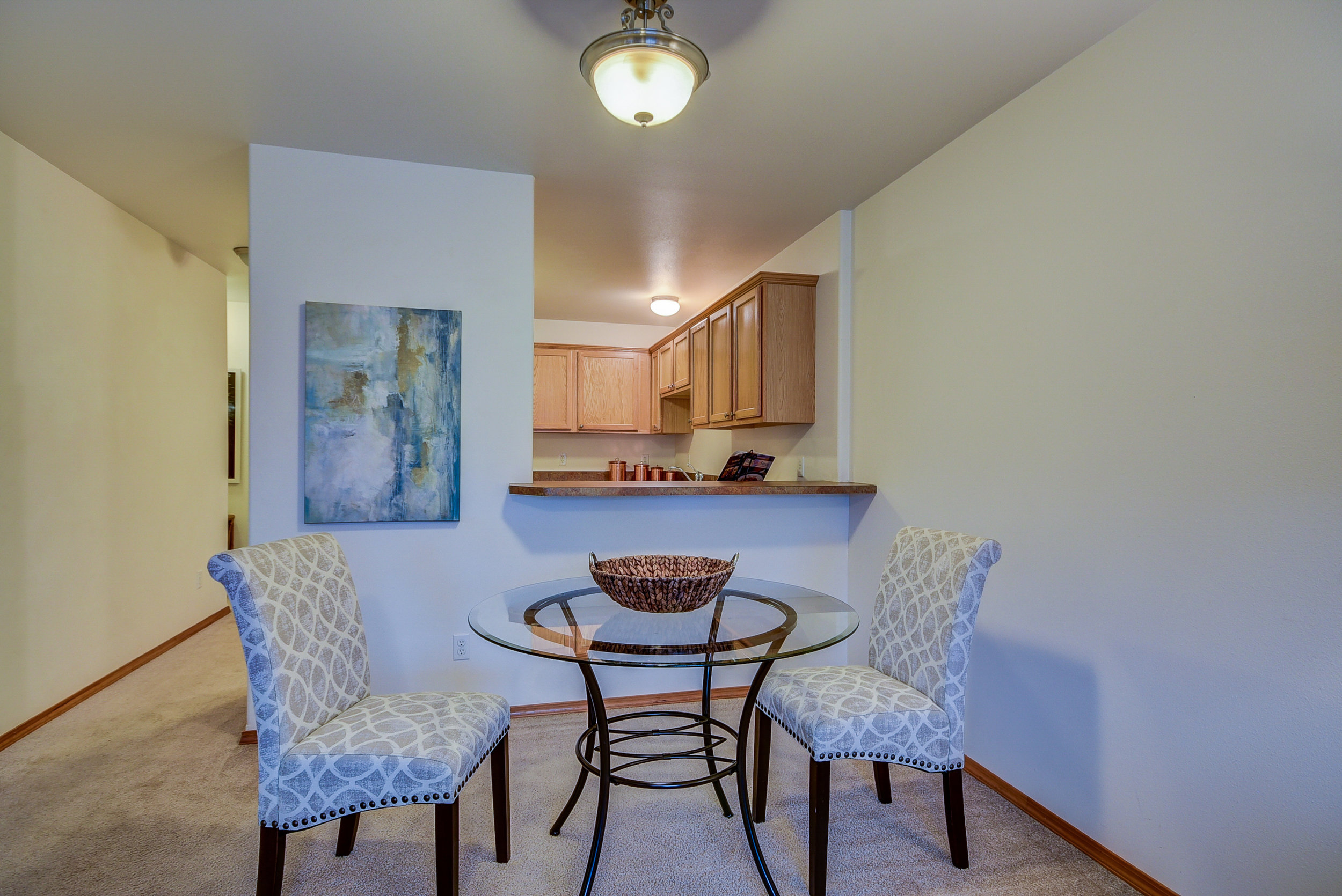 Whether casual or formal, there is room for both in this dining space!