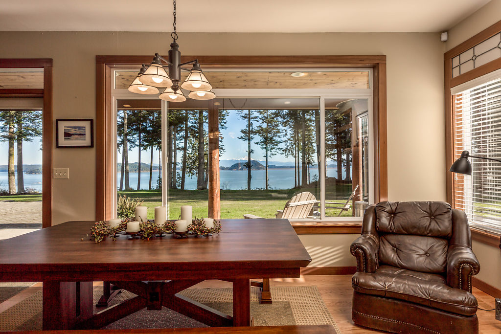 Spacious dining room...where that view is always your guest!