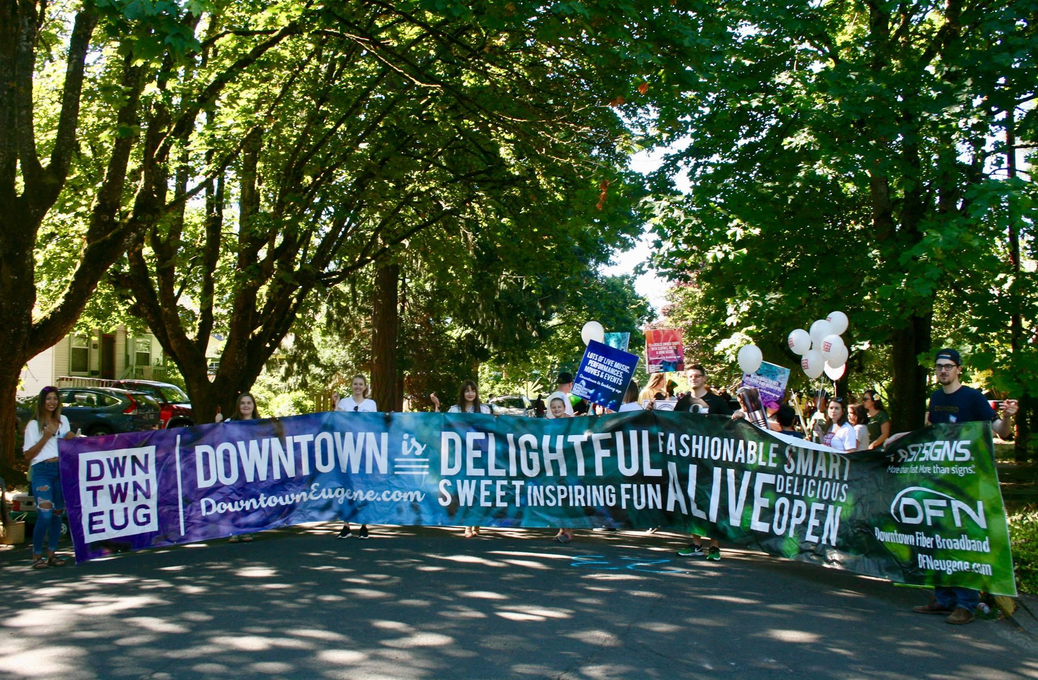 DEM banner at parade.jpg